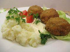 Rántott gomba - majonézzel, krumplipürével - Háztartás Ma Mashed Potatoes, Ethnic Recipes, Food, Whipped Potatoes, Smash Potatoes, Eten, Meals, Shredded Potatoes, Diet