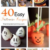 Umm....yeah. TONS of good easy and impressive yummies for Halloween!   40 Easy Halloween Recipes - The Miracle Momma