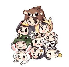 Image uploaded by Yanki. Find images and videos about kpop, exo and baekhyun on We Heart It - the app to get lost in what you love. Exo Chen, Suho Exo, Kaisoo, Lay Exo, Chanbaek, Exo Cartoon, Cartoon Fan, Cartoon Drawings, Chibi Exo