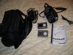 panasonic 300 x digital palmcorder w/ photoshot video camera model PV-L780D