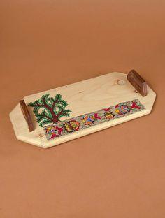 Madhubani Pine and Shisham Tray/Cheese Platter - Fish x x Madhubani Art, Madhubani Painting, Wood Wall Art, Framed Wall Art, Wood Walls, Contemporary Clocks, Fish Platter, Floor Murals, Indian Folk Art