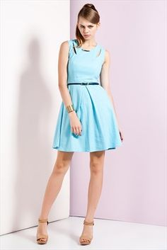 Ruj by SLN  - Mavi Elbise 24518