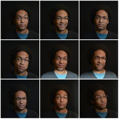 9 different facial expressions. Oh lawdy I'm gorgeous.