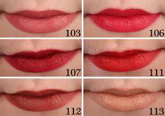 Rimmel Kate Moss Matte Lipstick Swatches