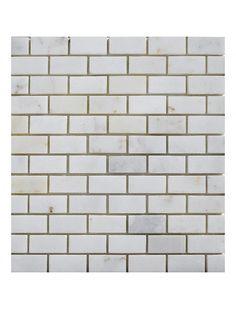 Afyon Sugar 1x1 Square Pattern Polished Marble Mesh Mounted Mosaic Tile #afyon_sugar_marble_tile #square_pattern_mosaic_tile Brick Patterns, Glass Mosaic Tiles, Marble, Mesh, Polish, Sugar, Vitreous Enamel, Granite, Marbles