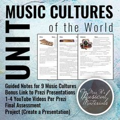 Composer of the month?  How about a music culture of the month!  Create your own - or purchase Miss W's!