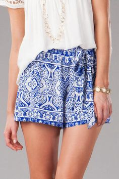 Francesca's Westwind Printed Shorts $34.00