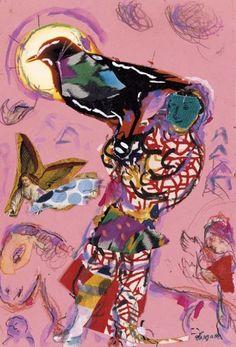 Marc Chagall, Esquisse pour L'Oiseleur  on ArtStack #marc-chagall #art
