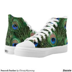 Peacock Feather High-Top Sneakers