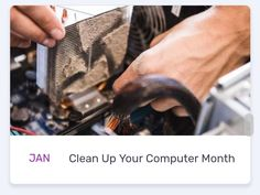 Clean Up Your Computer Month Basic Programming Language, National Months, Steve Wozniak, Room Of One's Own, Space Program, Fun At Work, Clean Up, Computers, Organization