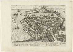 anoniem | Guise verovert Marseille, 1596, workshop of Frans Hogenberg, 1596 - 1598 | De troepen van de Guise trekken Marseille in, gevechten in de straten, 16 februari 1596. Met onderschrift van 12 regels in het Duits. Ongenummerd. Blad afkomstig uit een album dat uit elkaar is gehaald. Rechtsboven genummerd (in pen): 279.