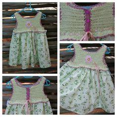 Crochet yoke sun dresses are so cute!