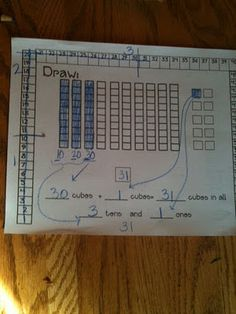 like this, but there has to be a more earth friendly way (can I make it smaller, or put in a slip cover/sleeve and use dry erase markers? Teaching Numbers, Math Numbers, Teaching Math, Teaching Ideas, Math Place Value, Place Values, Math Key Words, Daily Math, Daily 5