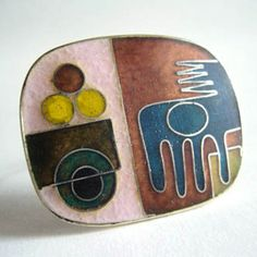 Enamel Brooch, German