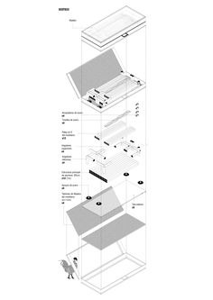 Project made in a small village in China (Denggao) where most of the population is growing old and the young are moving into bigger cities. This proposal tryes to solve the future of Denggao by Technical Architecture, Chinese Architecture, Architecture Drawings, Retail Facade, Cities, Working Drawing, Public Bathrooms, Cad Drawing, China