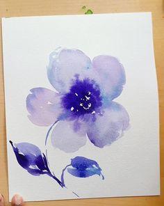 Watercolor Flowers Tutorial, Easy Watercolor, Abstract Watercolor, Watercolor Illustration, Watercolor Paintings For Beginners, Watercolor Art Lessons, Canvas Painting Tutorials, Basic Painting, Guache