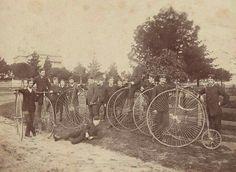 The Melbourne Bicycle Club in 1878 soon after its establishment. Melbourne Victoria, Victoria Australia, Melbourne Suburbs, Male Poses, First Nations, Vintage Images, Old Photos, Touring, Old Things