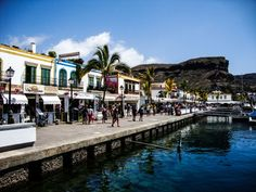 Puerto de Mogan Promenade Puerto Rico Gran Canaria, Grand Canaria, Places To Travel, Places To Visit, Family Destinations, Canario, Island Beach, Canary Islands, Around The Worlds