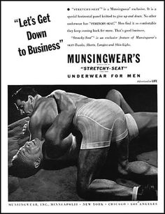 (Advertisement - circa 1950's)  Vintage Gay Impressions - An eclectic collection of authentic vintage printed materials including advertisements, books, magazines, posters & memorabilia.  GAYTWOGETHER.COM