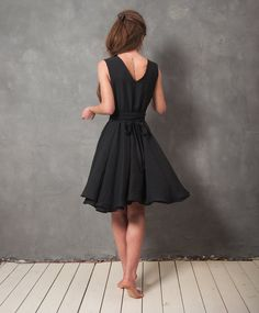 Odessa black wrap dress by raori on Etsy