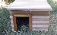 Large Guinea Pig Authentic Bamboo Hide Away House Hut Cage Hamster Rat Bird Home #CustomMade