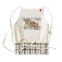 Peanut Free Is How I Roll Allergy Free Chef Apron Zazzle HEART Apron