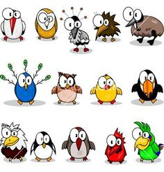 Drawing Cartoons Clipart - Collection of cartoon birds. Fotosearch - Search Clip Art, Illustration Murals, Drawings and Vector EPS Graphics Images - Bird Drawings, Doodle Drawings, Cartoon Drawings, Doodle Art, Cute Drawings, Cartoon Bird Drawing, Drawing Clipart, Pencil Drawings, Cartoon Kunst