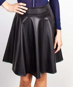 Look what I found on #zulily! Black Pleated A-Line Skirt #zulilyfinds