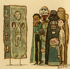 Star Wars : The Empire Strikes Back by Scott Campbell