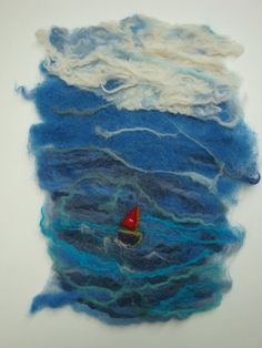 Little Red Boat on the Stormy Sea
