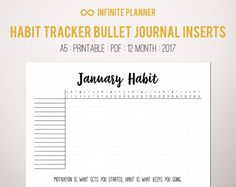 Monthly Habit Tracker Page A5 2017  Bullet by InfinitePlanner