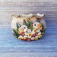 Korean Pottery, Gourd Art, Air Dry Clay, Garden Crafts, Clay Art, Garden Pots, Potted Plants, Terracotta, Decorative Bowls