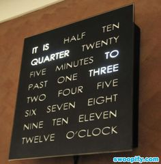 another cool clock ~ updated link for the REAL source