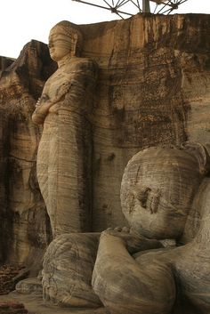 The Gal Vihara, also known as Gal Viharaya, is a rock temple of the Buddha situated in the ancient city of Polonnaruwa in north-central Sri Lanka