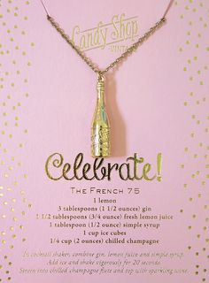 Pop The Bubbly Necklace by Candy Shop Vintage