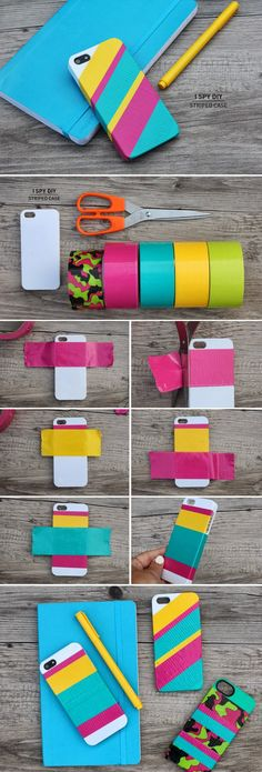 Anahita duct tape projects, duck tape crafts, diy projects, diys, i spy diy Duct Tape Projects, Duck Tape Crafts, Craft Projects, Craft Ideas, Project Ideas, Diy Case, Diy Phone Case, Iphone Cases, Iphone 8