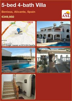 5-bed 4-bath Villa in Benissa, Alicante, Spain ►€349,950 #PropertyForSaleInSpain
