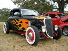 One of the many Old school hot rods at Kingsbury