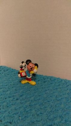 "Vintage - Mickey on Phone- 2"" PVC Figure/Cake Topper Applause Disney- LOOSE #Disney"