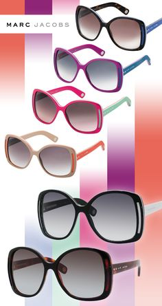 Marc Jacobs Sunnies Join the Color-Block Craze.. Love my Marc by Marc Jacobs!