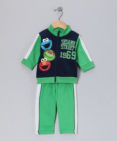 Take a look at this Green Sesame Street Jacket & Pants - Infant by Sesame Street Boys on #zulily today!