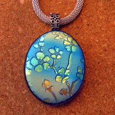 Dichroic Pendant - Fused Glass Pendant - Glass Pendant - Dichroic Jewelry by GlassMystique on Etsy