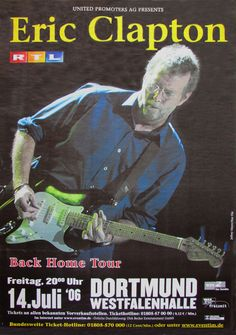Eric Clapton, Berlin, Guitar Guy, Star Wars, Entertainment, Vintage Rock, Flyer, Music Posters, Classic Rock
