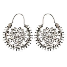 Buy Sterling silver hoop earrings, 'Gate to Paradise' today. Shop unique, award-winning Artisan treasures by NOVICA, the Impact Marketplace. Each original piece goes through a certification process to guarantee best value and premium quality. Filigree Earrings, Silver Hoop Earrings, Paradise Found, Christmas Earrings, Sterling Silver Filigree, Crochet Earrings, Accessories, Gate, Image Link