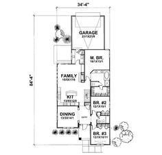 Bungalow Style House Plan - 3 Beds 2 Baths 1800 Sq/Ft Plan #50-126 Main Floor Plan - Houseplans.com