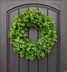 Spring Wreath Summer Wreath Grapevine Door Wreath Boxwood-Use Year Round by AnExtraordinaryGift on Etsy