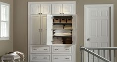 Laundry Room Cabinets | Painted Cabinets | Mid Continent Cabinetry