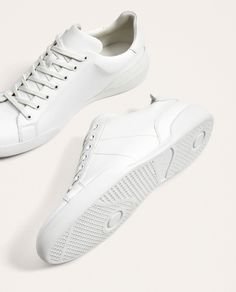 Image 7 of MONOCHROME LACE-UP SNEAKERS from Zara