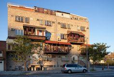 Hasidic Apartment Building in Williamsburg, Brooklyn