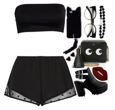 """""""#0074"""" by killerxbabe ❤ liked on Polyvore featuring Princesse tam.tam, Anya Hindmarch, Missguided and Lime Crime"""